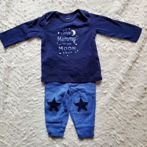 Carter's baby boy outfit, top & bottom